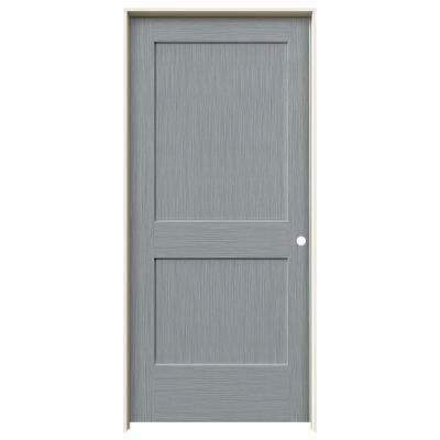 36 in. x 80 in. Monroe Stone Stain Left-Hand Solid Core Molded Composite MDF Single Prehung Interior Door