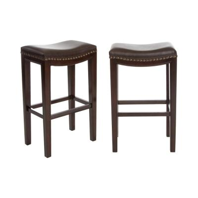 Avondale 30 in. Brown Backless Bar Stool (Set of 2)