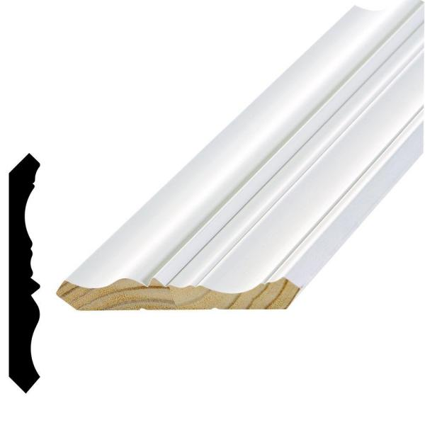 WPCR 696 11/16 in. x 5-1/4 in. x 96 in. Primed Pine Finger-Jointed Crown Moulding