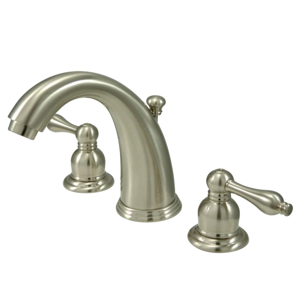 Kingston Brass Victorian 8 In. Widespread 2-Handle Bathroom Faucet In Brushed Nickel-HKB988AL