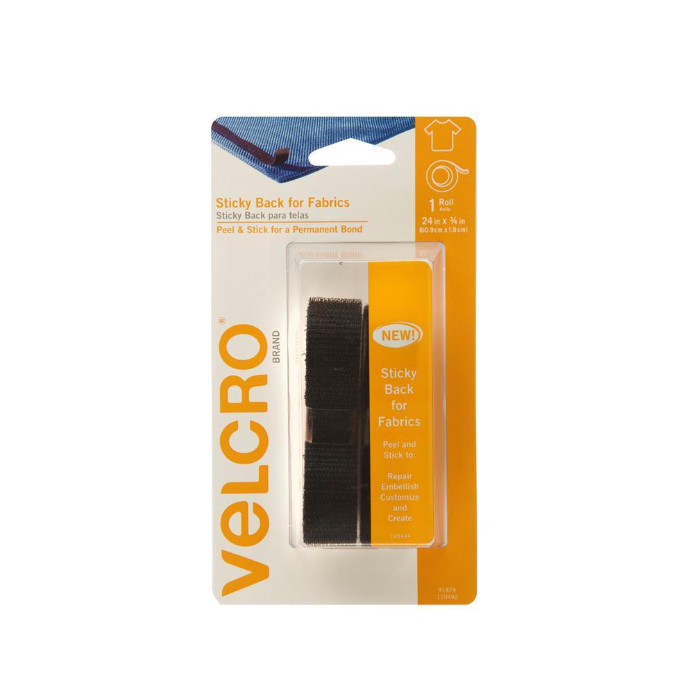 Velcro Brand 24 In X 3 4 Sticky Back For Fabrics Tape