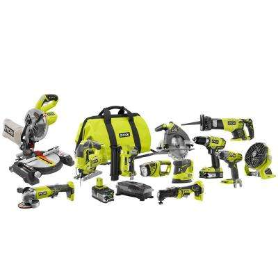 18-Volt ONE+ Lithium-Ion Cordless (12-Tool) Combo Kit with (1) 4.0Ah Battery and (1) 1.5Ah Battery, Charger and Bag