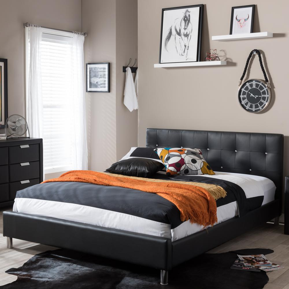 Barbara Black Full Upholstered Bed