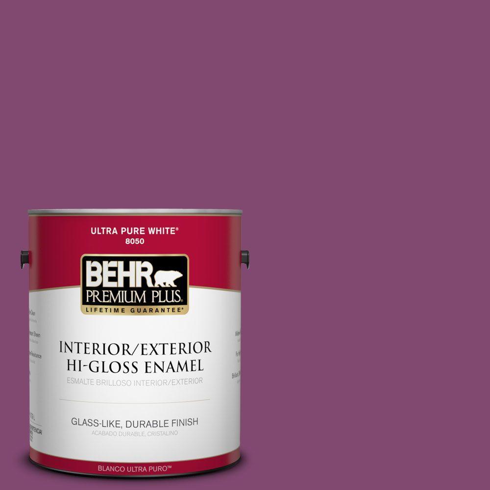 1-gal. #680B-7 Sugar Plum Hi-Gloss Enamel Interior/Exterior Paint
