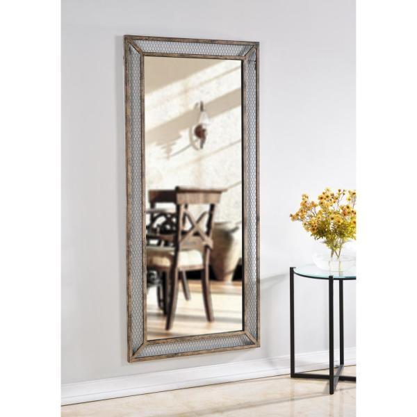 Manor Brook Oversized Rectangle Brown Classic Mirror 66 In H X 30 In W Mb100198 The Home Depot