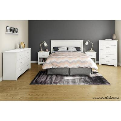 Fusion 1-Drawer Pure White Nightstand