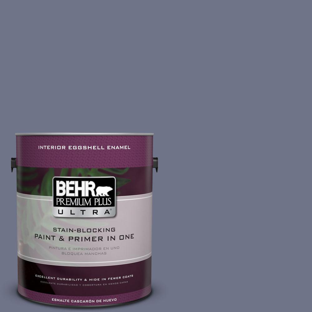 BEHR Premium Plus Ultra 1-Gal. #PPU16-17 Blue Aura Eggshell Enamel Interior Paint