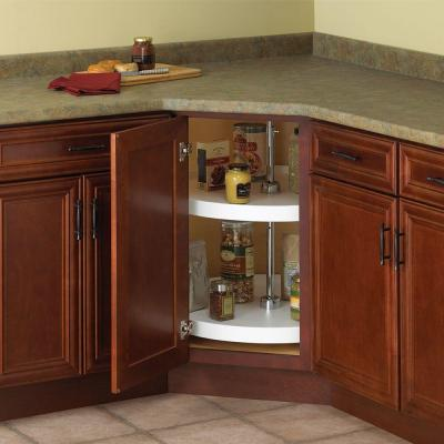 32 in. H x 28 in. W x 28 in. D 2-Shelf Full Round Lazy Susan Cabinet Organizer