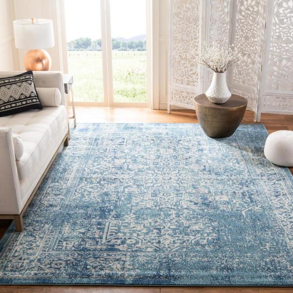 Safavieh Evoke Blue Ivory 9 Ft X