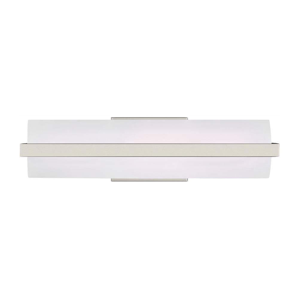 Sea Gull Lighting East Benton 16.5-Watt Brushed Nickel Integrated LED Bath Light