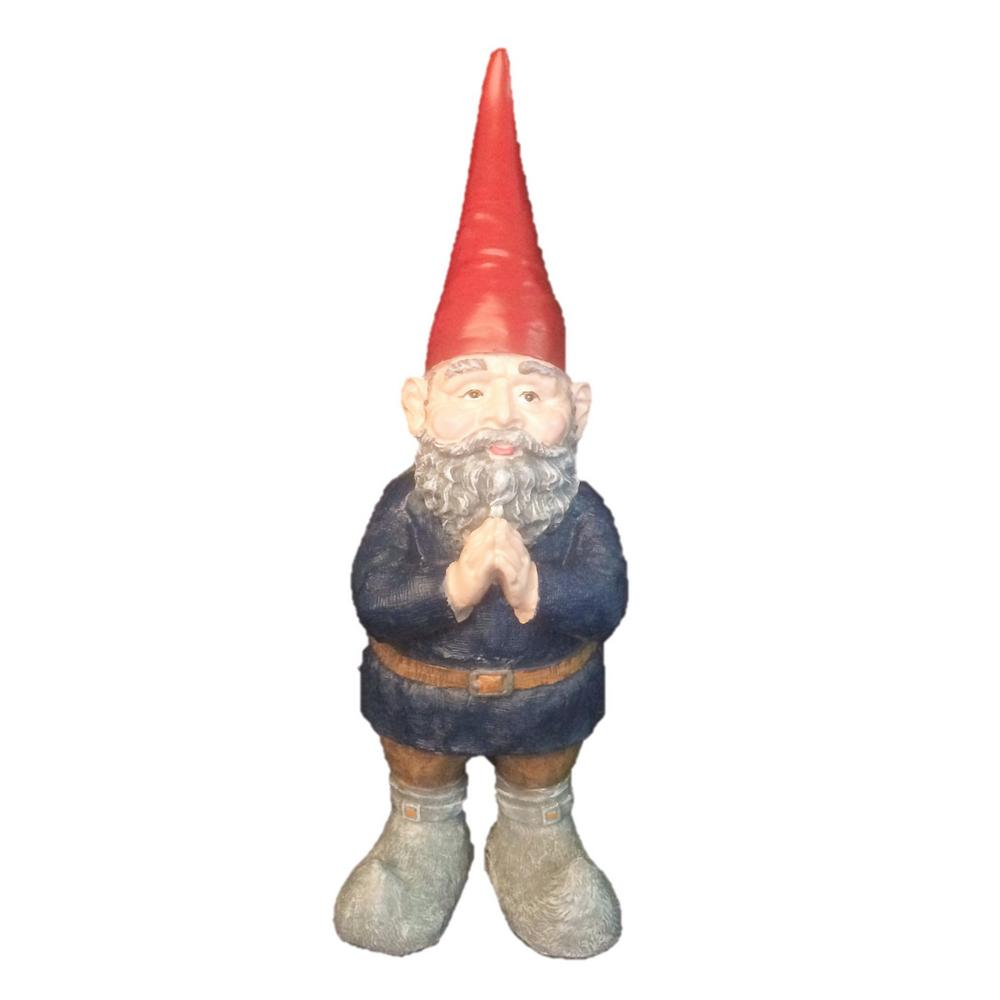 14 in. H Mordecai the Garden Gnome Praying Hands Figurine Statue