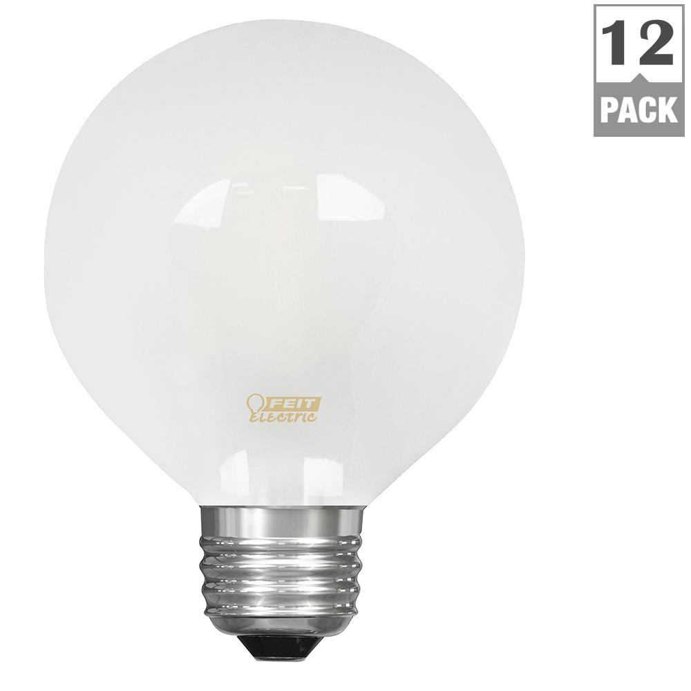 Feit Electric 40w Equivalent Soft White A19 Clear Filament: Feit Electric 40W Equivalent Soft White (2700K) G25