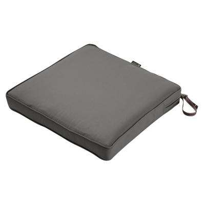 17 in. W x 15 in. D x 2 in. T Montlake Light Charcoal Grey Rectangular Outdoor Seat Cushion