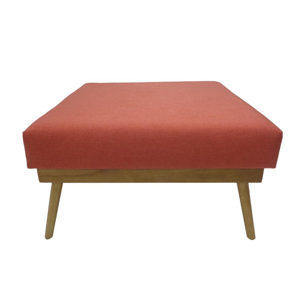 Groovy Noble House Elijah Mid Century Modern Square Coral Fabric Beatyapartments Chair Design Images Beatyapartmentscom