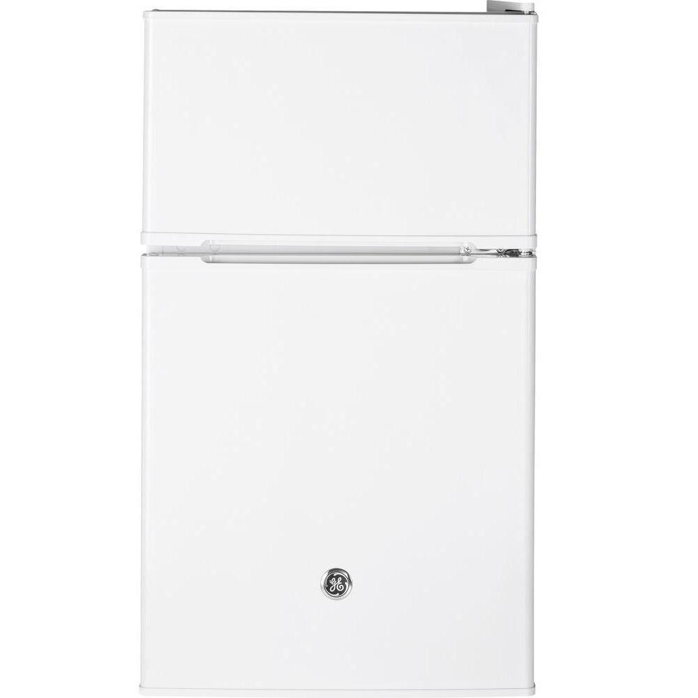 3.1 cu. ft. Double- Door Mini Refrigerator in White
