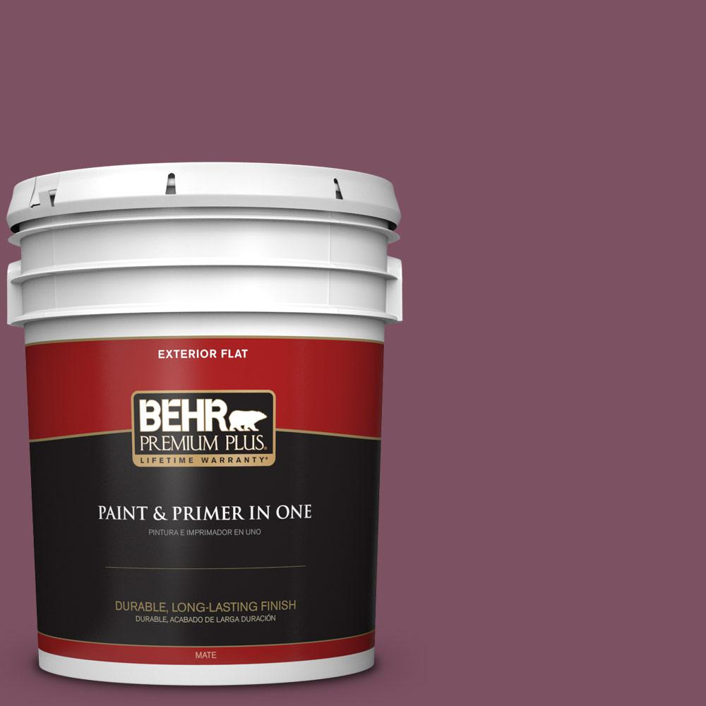 5 gal. #PPU1-19 Classic Berry Flat Exterior Paint