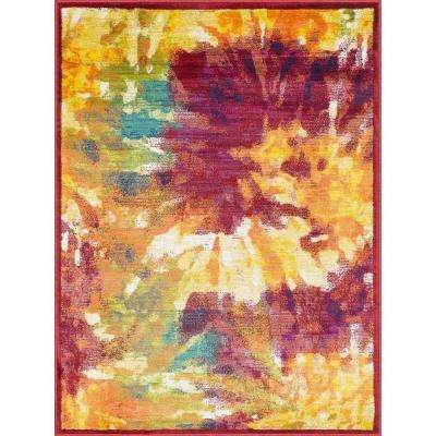 Lyon Lifestyle Collection Firework 3 ft. 9 in. x 5 ft. 2 in. Area Rug
