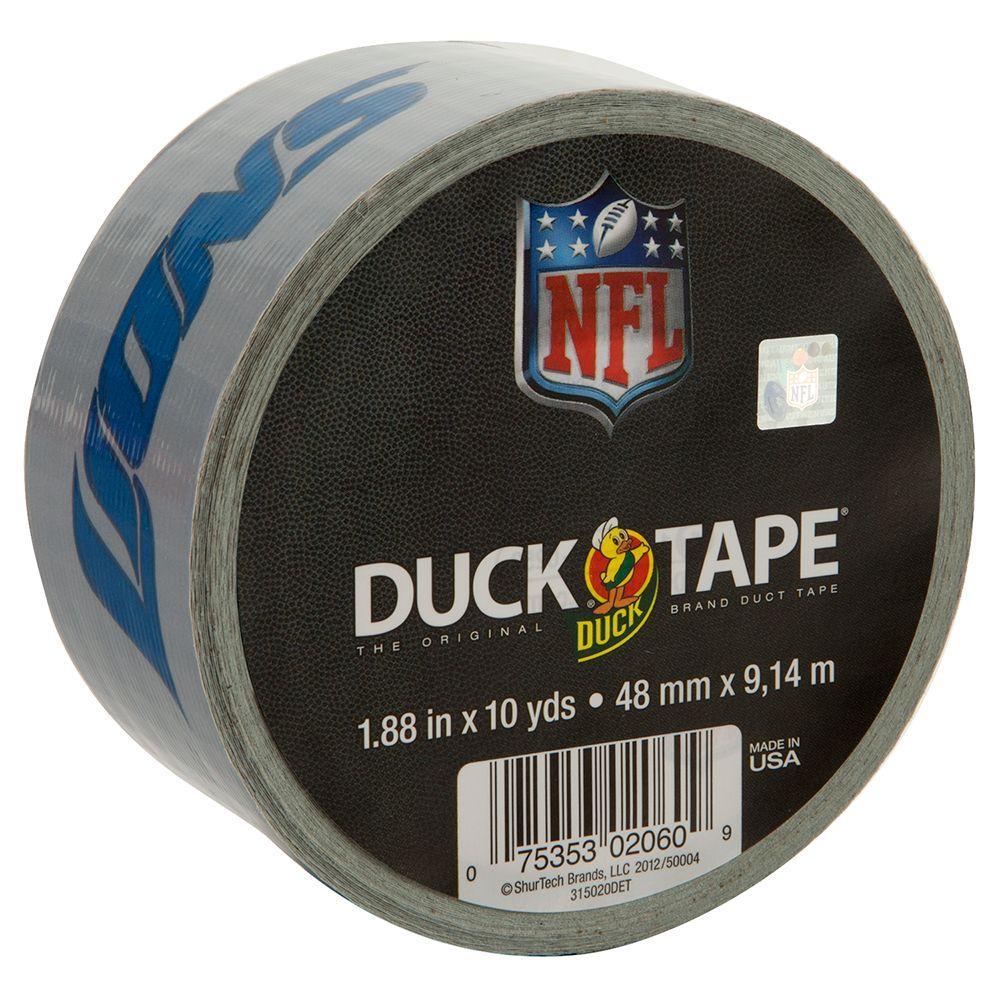 Duck 1.88 in. x 10 yds. Detroit Lions Duct Tape