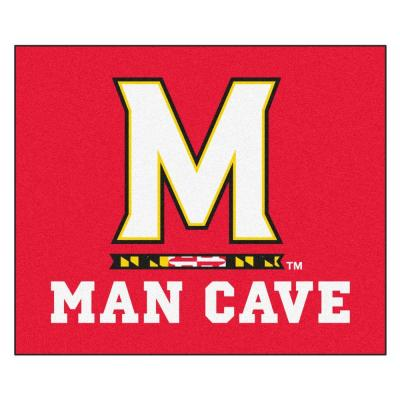 University of Maryland Red Man Cave 5 ft. x 6 ft. Area Rug