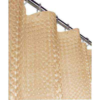 Mirage 72 in. Beige 3D Shower Curtain