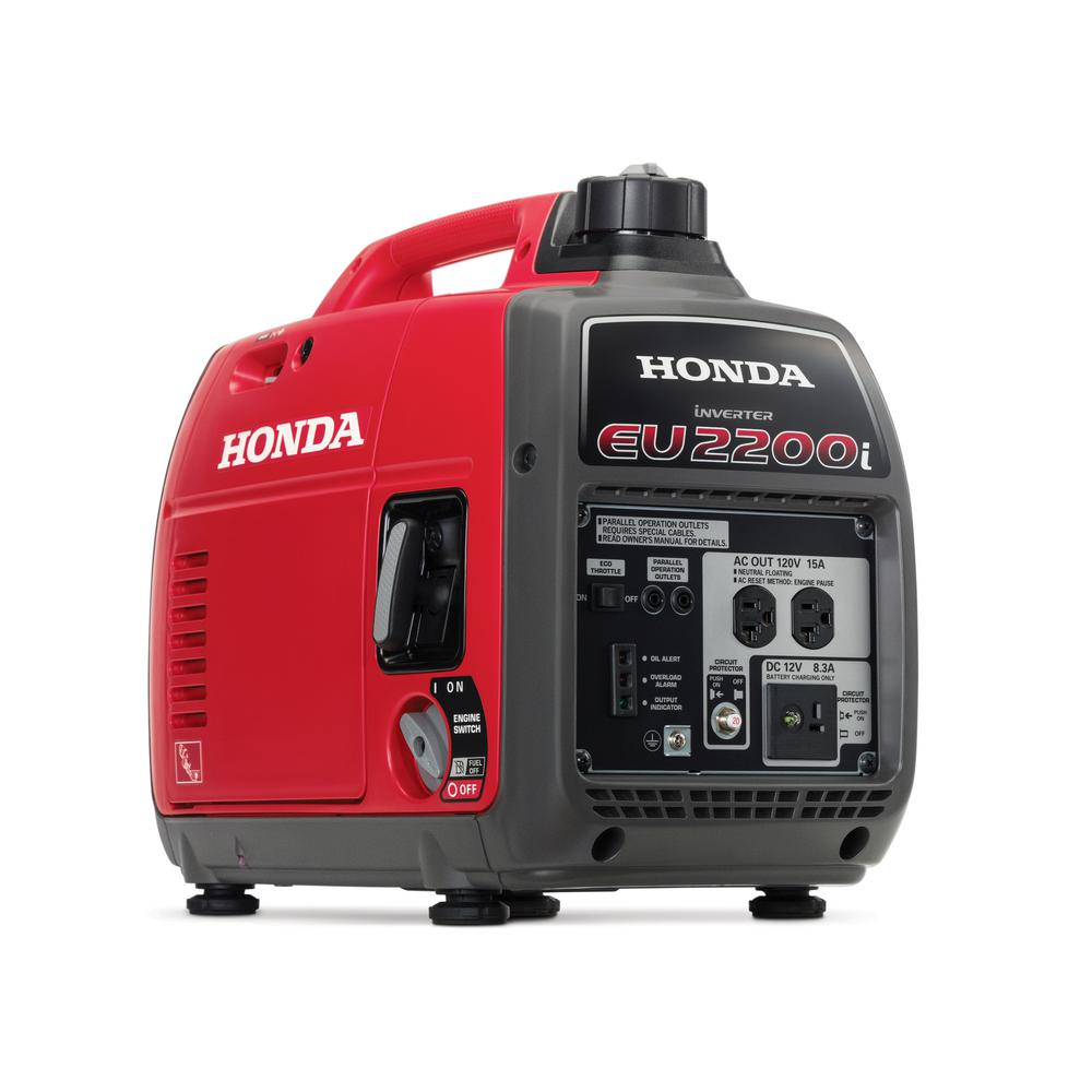 Honda 2,200-Watt Super Quiet Gasoline Powered Portable Inverter Generator  with Eco-Throttle and
