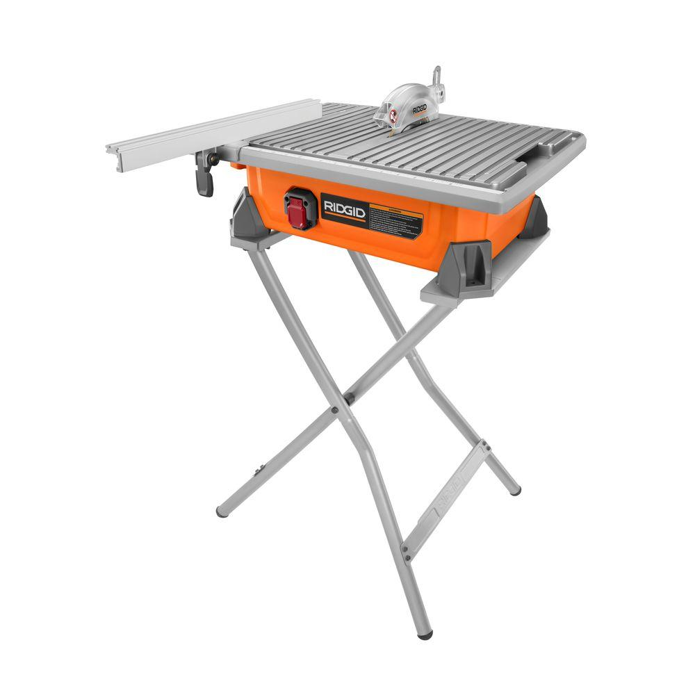 Portable Flooring Saw : Ridgid in tile saw with stand r sn the home depot
