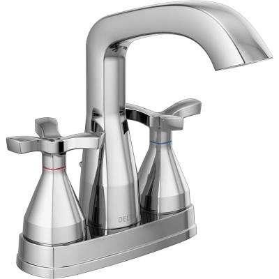 Stryke 4 in. Centerset 2-Handle Bathroom Faucet in Chrome