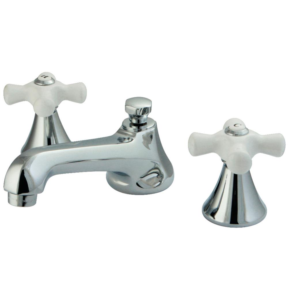 Kingston Brass Modern 8 In. Widespread 2-Handle Bathroom Faucet In Chrome-HKS4471PX