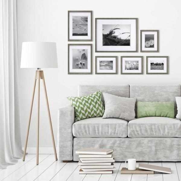 Gallery Perfect Gray Picture Frame (Set of 7)