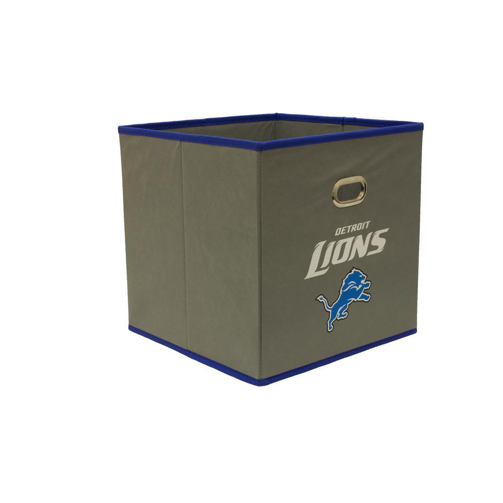 Detroit Lions NFL Store-Its 10-1/2 in. W x 10-1/2 in. H x 11 in. D Grey Fabric Drawer