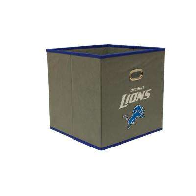 Detroit Lions NFL Store-Its 10-1/2 in. W x 10-1/2 in. H x 11 in. D Grey Fabric Drawer