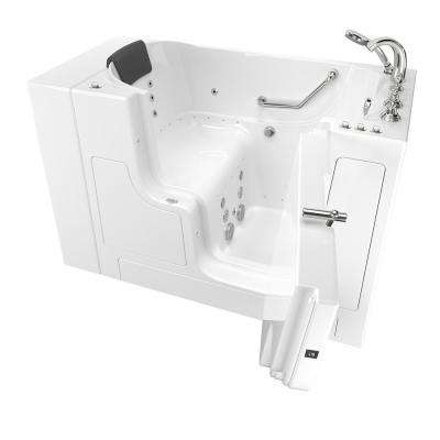 Gelcoat Premium 52 in. Right Hand Walk-In Whirlpool and Air Bathtub in White