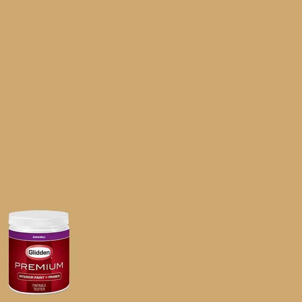 Glidden Premium 8 Oz Hdgy38d King 39 S Ransom Gold Eggshell Interior Paint Sample With Primer