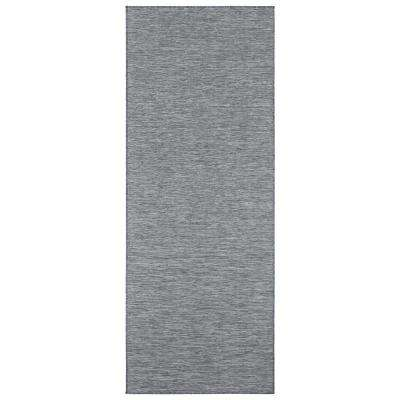 Sundance Collection Solid Gray 2 ft. 7 in. x 5 ft. Indoor/Outdoor Reversible Runner Rug