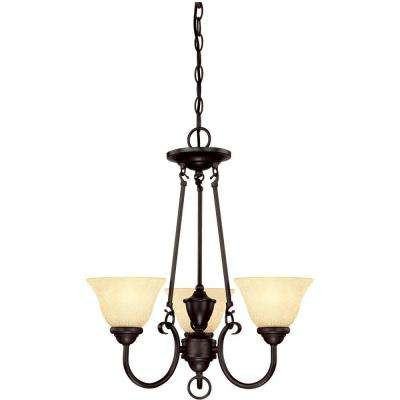 Elena 3-Light Dark Bronze Chandelier