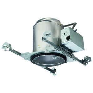 Halo E26 5 inch Aluminum Recessed Lighting Housing for New Construction Ceiling, Insulation Contact, Air-Tite by Halo