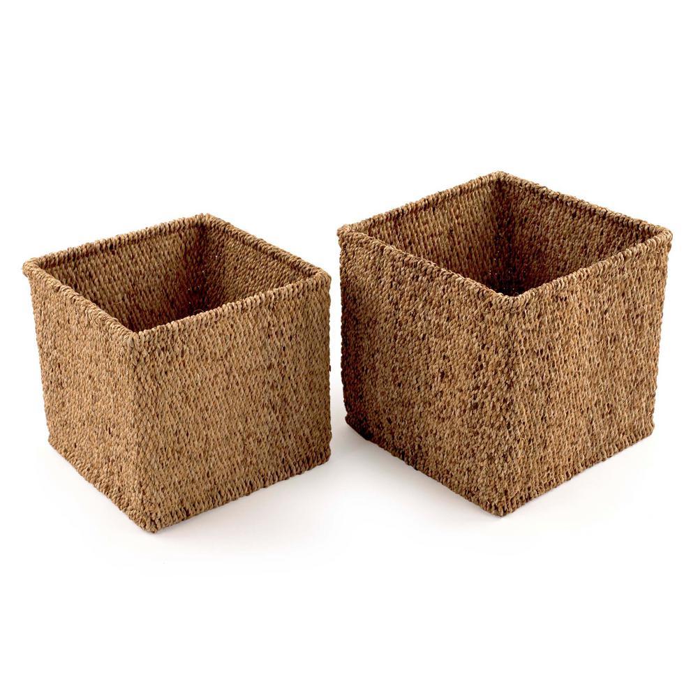 Design Ideas Water Hyacinth Woven Decorative Baskets (Set of 2) 5513609