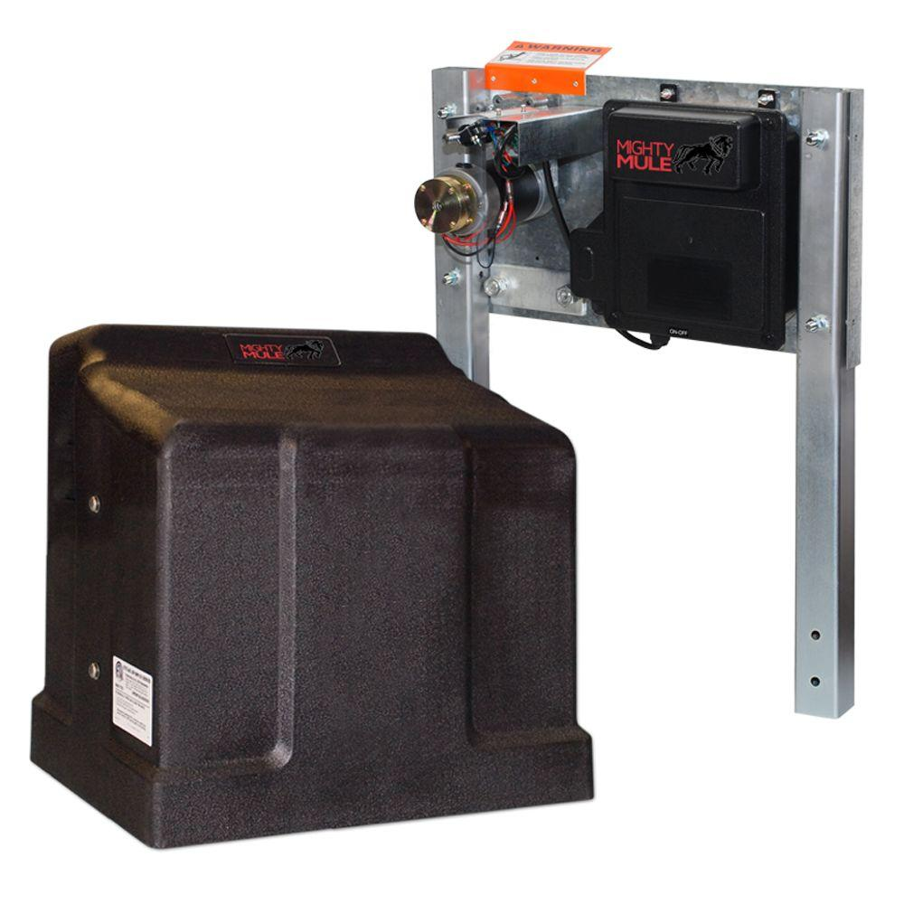 Home Depot Automatic Gates : Mighty mule heavy duty single slide electric gate opener
