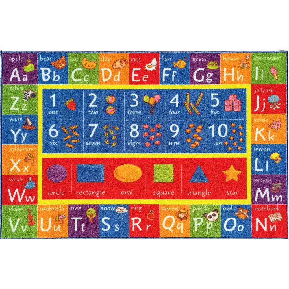 KC CUBS Multi-Color Kids And Children Bedroom ABC Alphabet