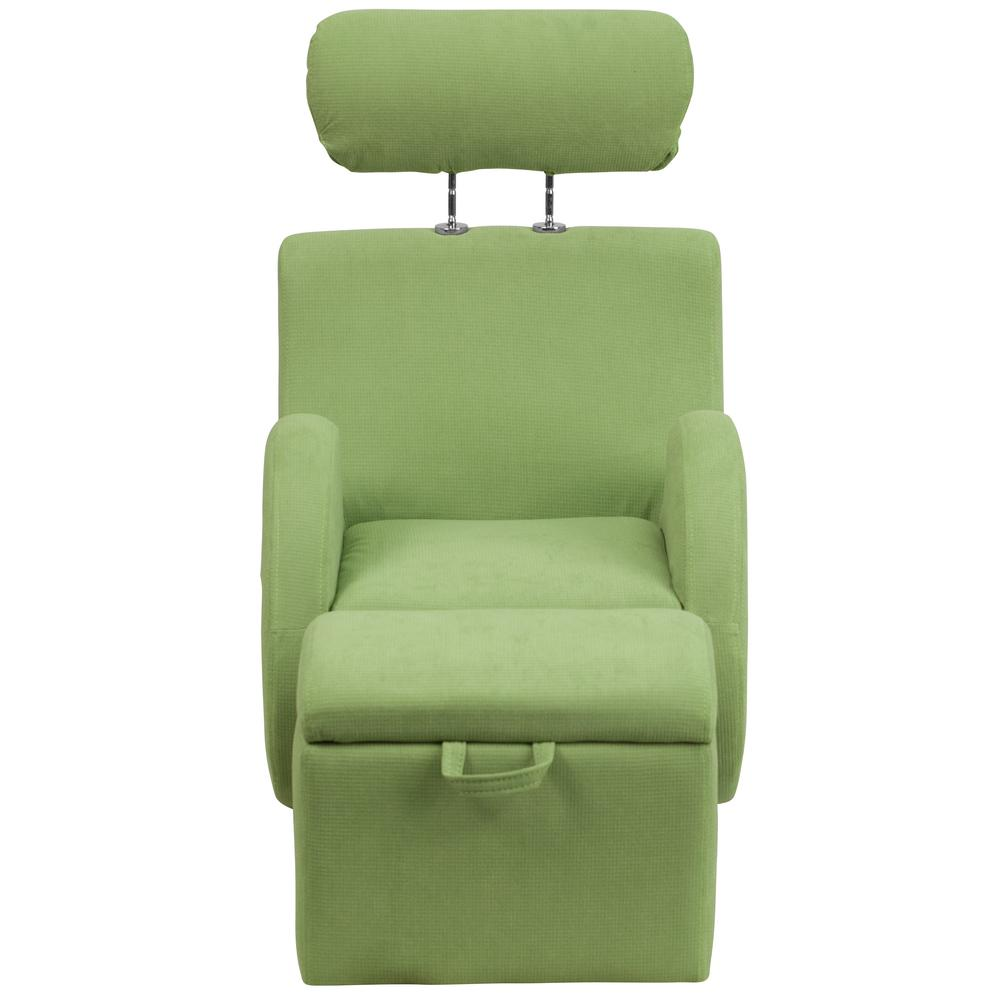 Flash Furniture Hercules Series Green Fabric Rocking Chair With Storage  Ottoman LD2025GNFAB   The Home Depot