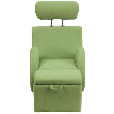 Hercules Series Green Fabric Rocking Chair with Storage Ottoman
