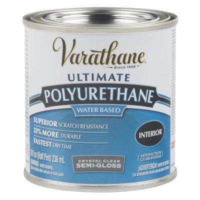 8 oz. Clear Semi-Gloss Water-Based Interior Polyurethane (4-Pack)