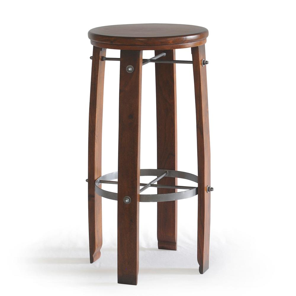 Carolina Cottage Woodford 30 In Chestnut Barrel Stool