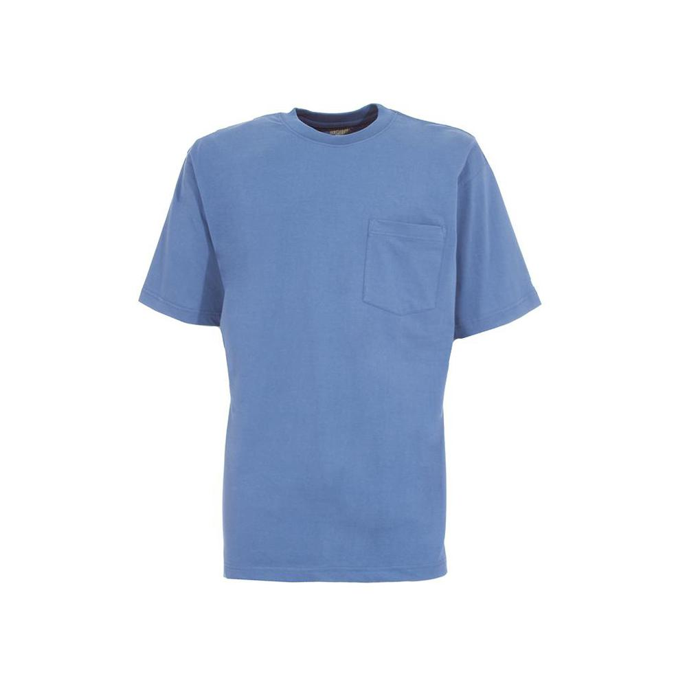 dafa871cbc9 Men's 3 XL Tall Royal Blue Cotton and Polyester Heavy-Weight Pocket T-Shirt