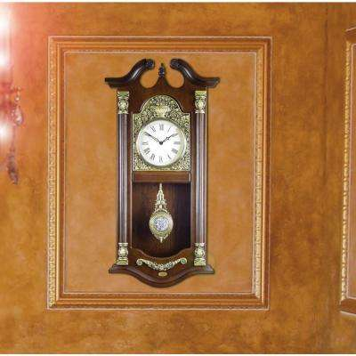 14.3 in. W x 4 in. D x 29 in.H Solid Wood Large Traditional Pendulum Wall Clock
