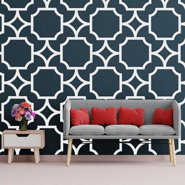Ekena Millwork 3/8 in. x 43 in. x 23-3/4 in. Large Anderson White Architectural Grade PVC Decorative Wall Panels