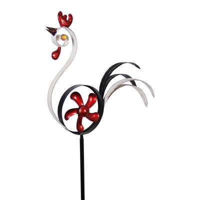 Rooster Garden Stake with Fan Body