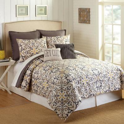 Madrid 7-Piece Multicolored King Comforter Set