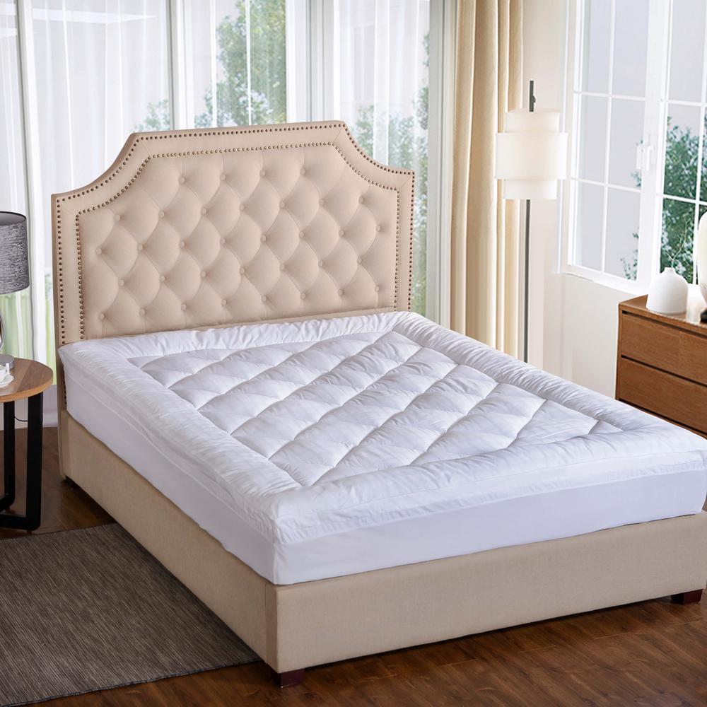Ultra 450 Thread Count Full Mattress Pad in White