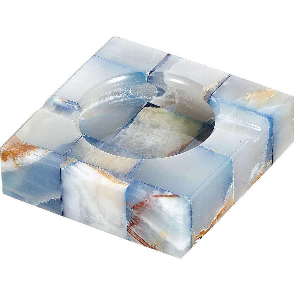 Sugilite White and Blue Onyx Stone Cigarette Ashtray